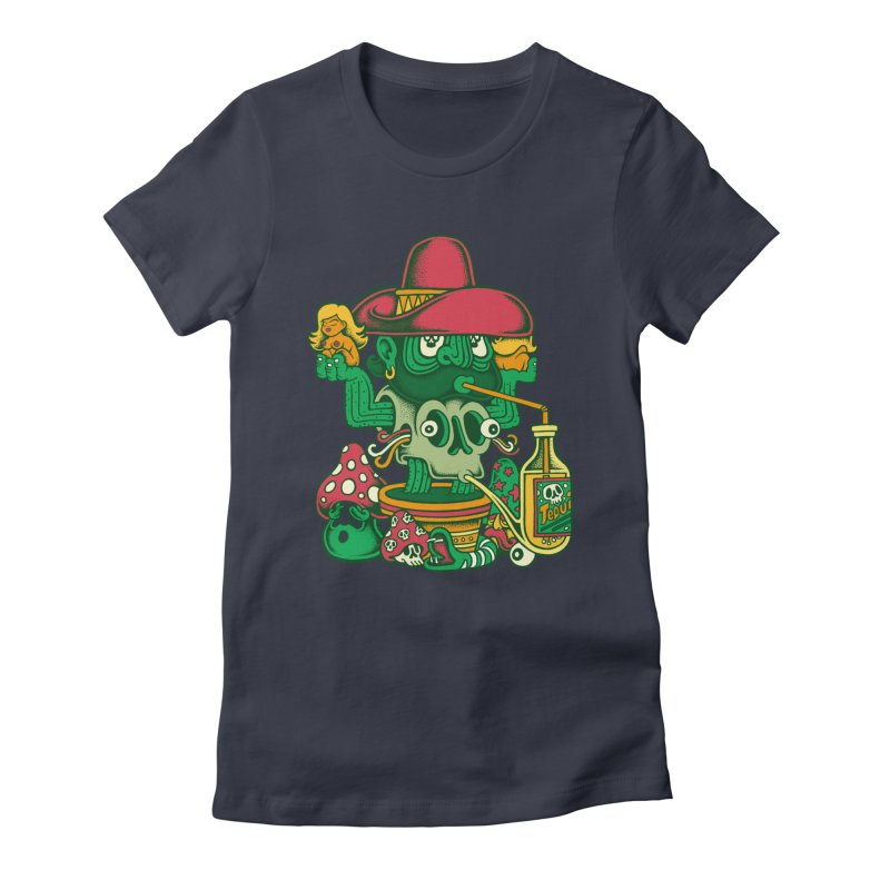 Mr. Cactus Women's Fitted T-Shirt by cphposter's Artist Shop
