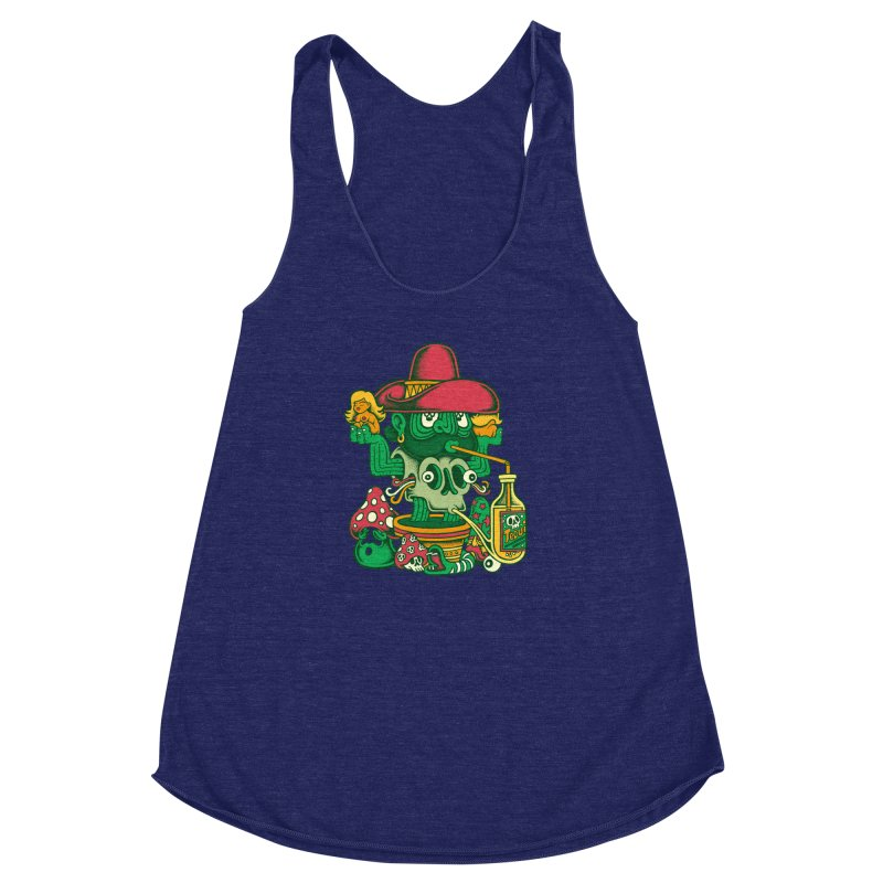 Mr. Cactus Women's Racerback Triblend Tank by cphposter's Artist Shop