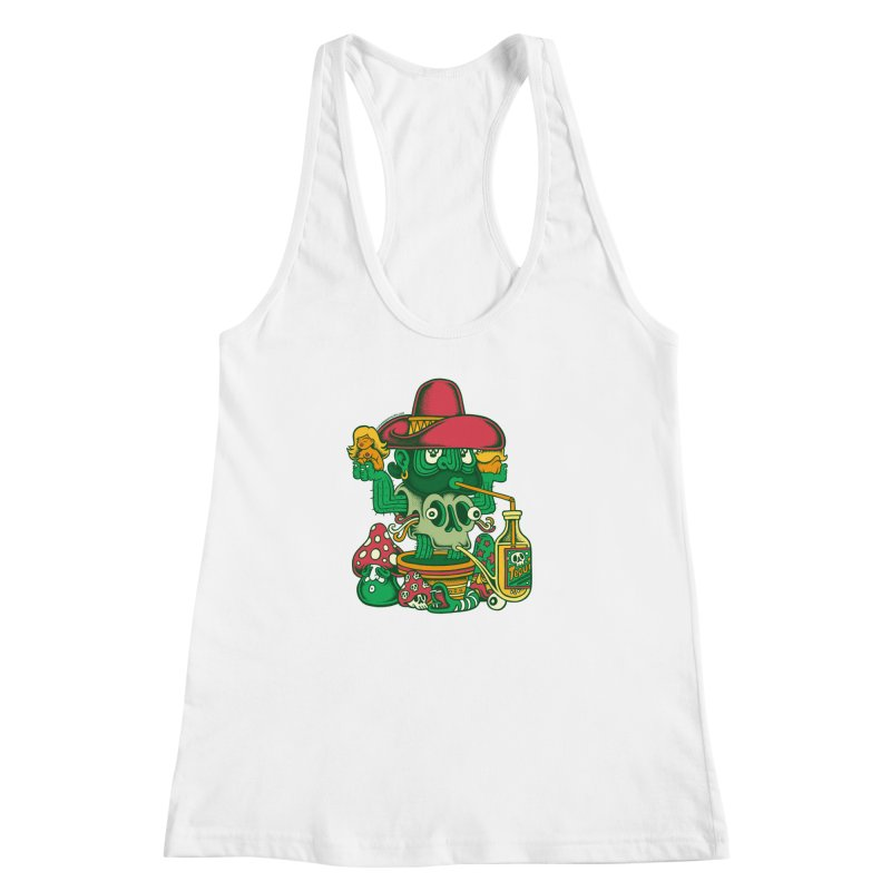 Mr. Cactus Women's Racerback Tank by cphposter's Artist Shop