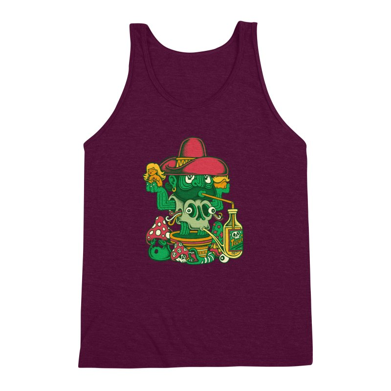 Mr. Cactus Men's Triblend Tank by cphposter's Artist Shop