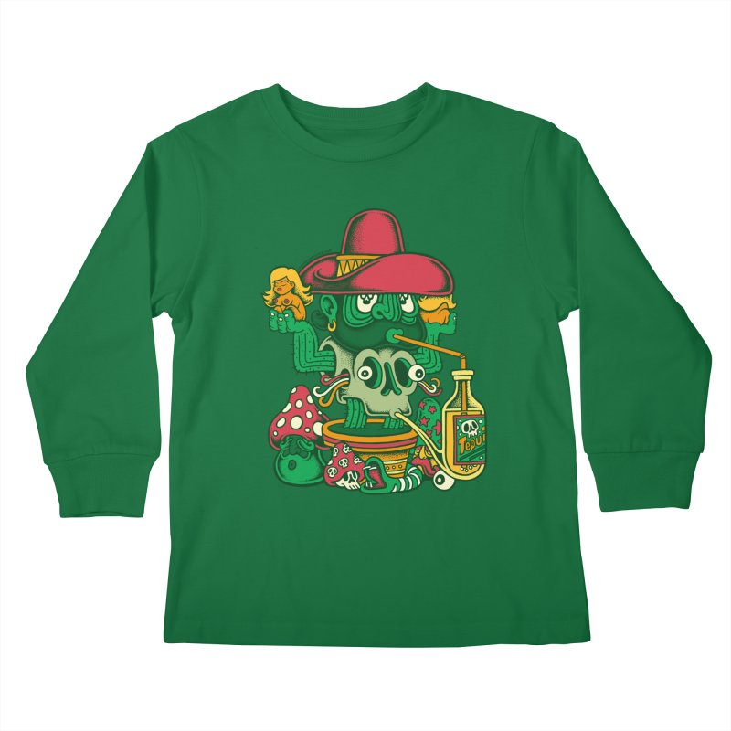 Mr. Cactus Kids Longsleeve T-Shirt by cphposter's Artist Shop