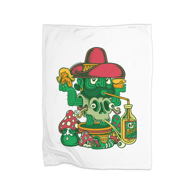 Mr. Cactus Home Blanket by cphposter's Artist Shop