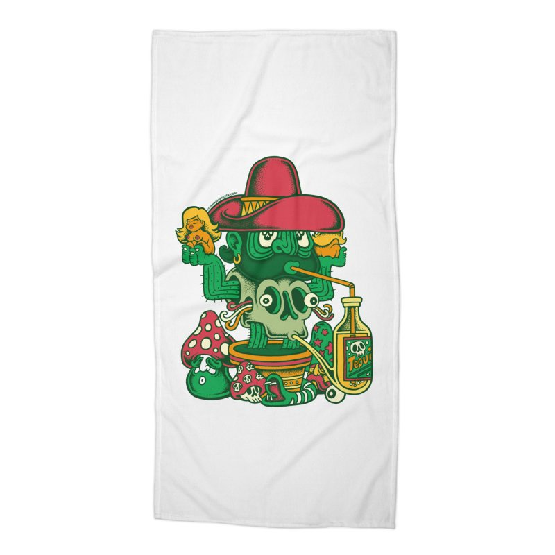 Mr. Cactus Accessories Beach Towel by cphposter's Artist Shop