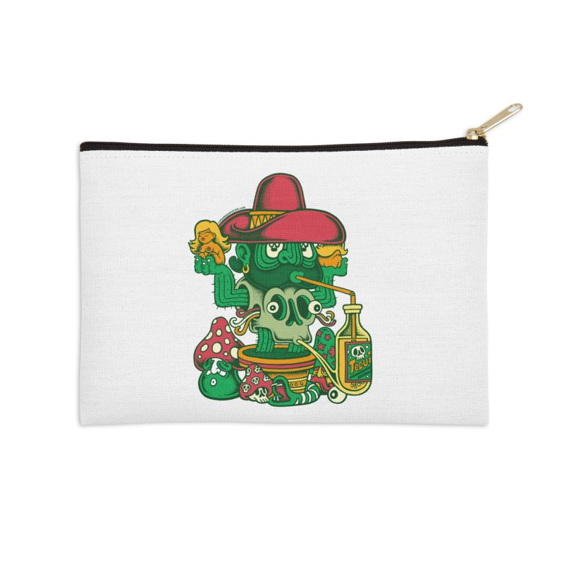 Mr. Cactus Accessories Zip Pouch by cphposter's Artist Shop