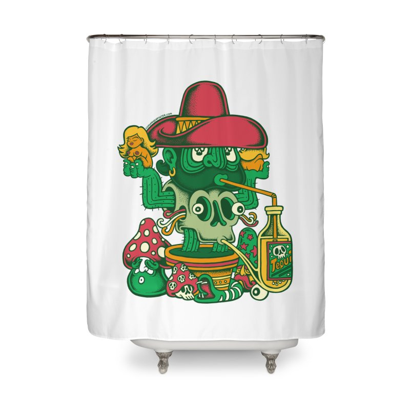 Mr. Cactus Home Shower Curtain by cphposter's Artist Shop