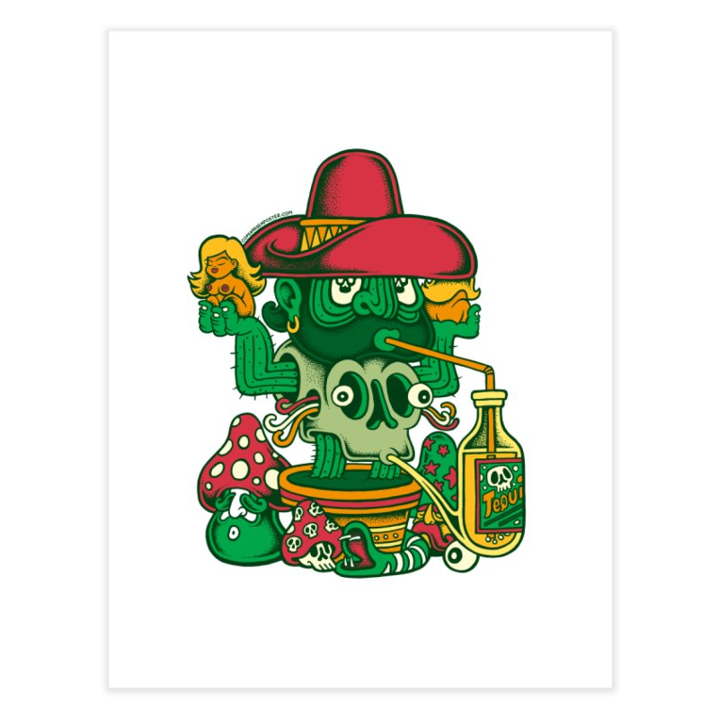 Mr. Cactus Home Fine Art Print by cphposter's Artist Shop