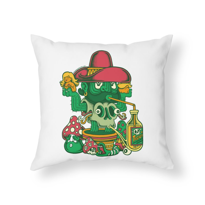 Mr. Cactus Home Throw Pillow by cphposter's Artist Shop
