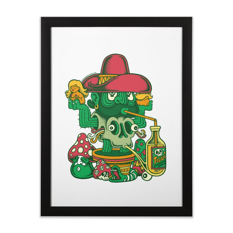 Mr. Cactus Home Framed Fine Art Print by cphposter's Artist Shop