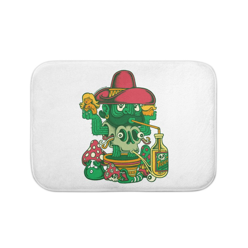 Mr. Cactus Home Bath Mat by cphposter's Artist Shop