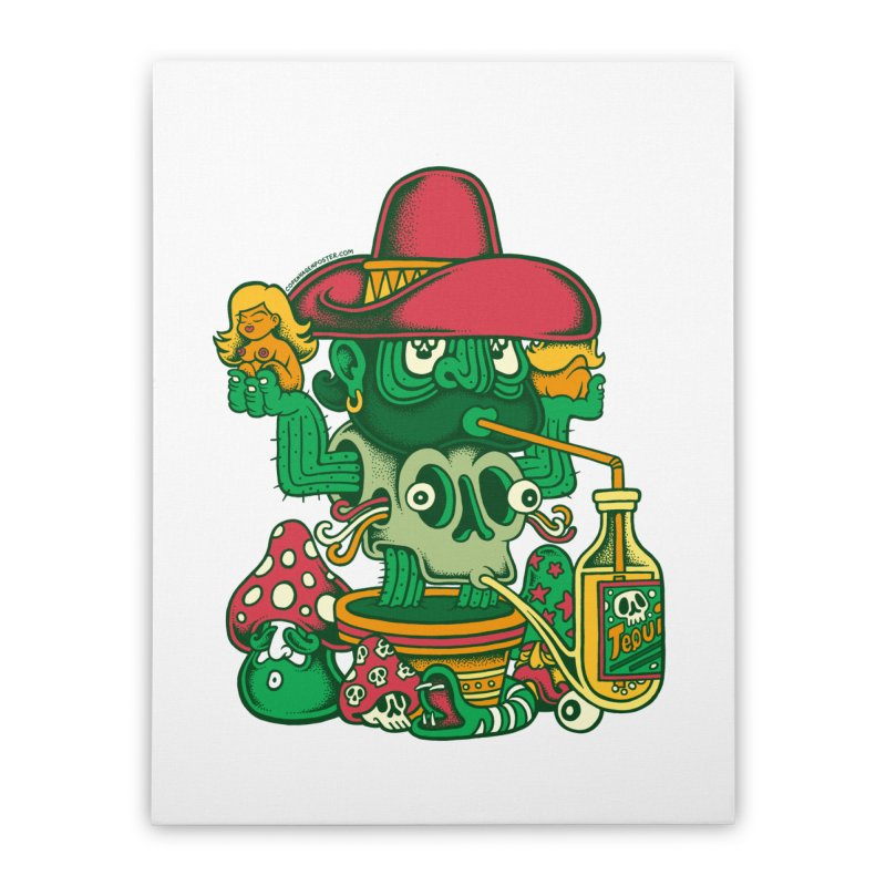Mr. Cactus Home Stretched Canvas by cphposter's Artist Shop