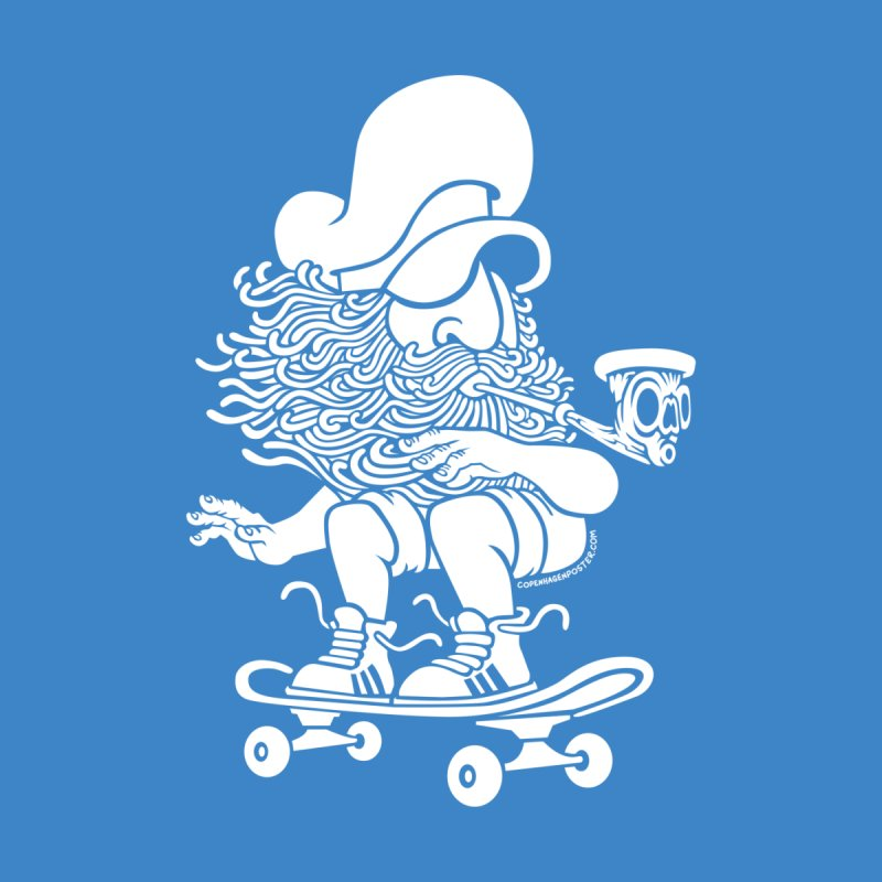 Skateboard Sailor White Men's T-shirt by cphposter's Artist Shop