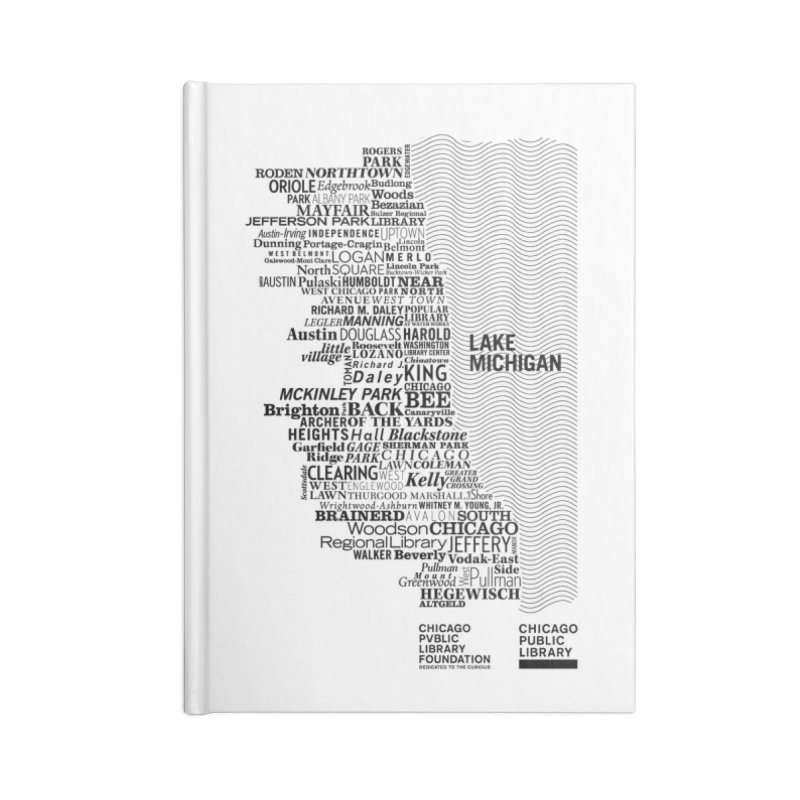 Chicago Public Library Map Black Accessories Notebook by cplfoundation's Artist Shop