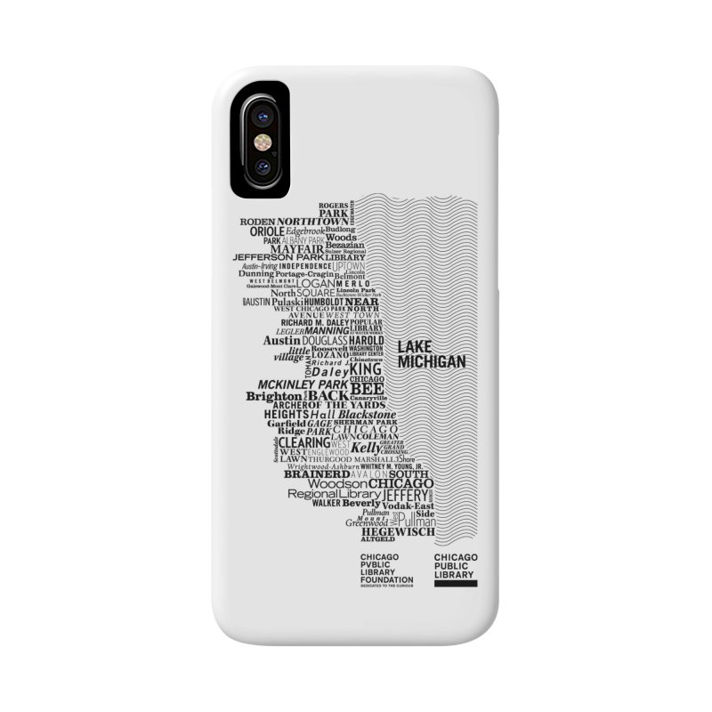 Chicago Public Library Map Black Accessories Phone Case by cplfoundation's Artist Shop