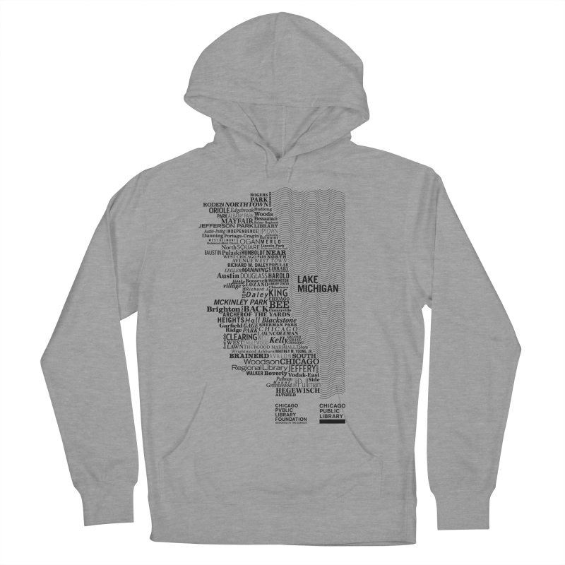 Chicago Public Library Map Black Men's Pullover Hoody by cplfoundation's Artist Shop