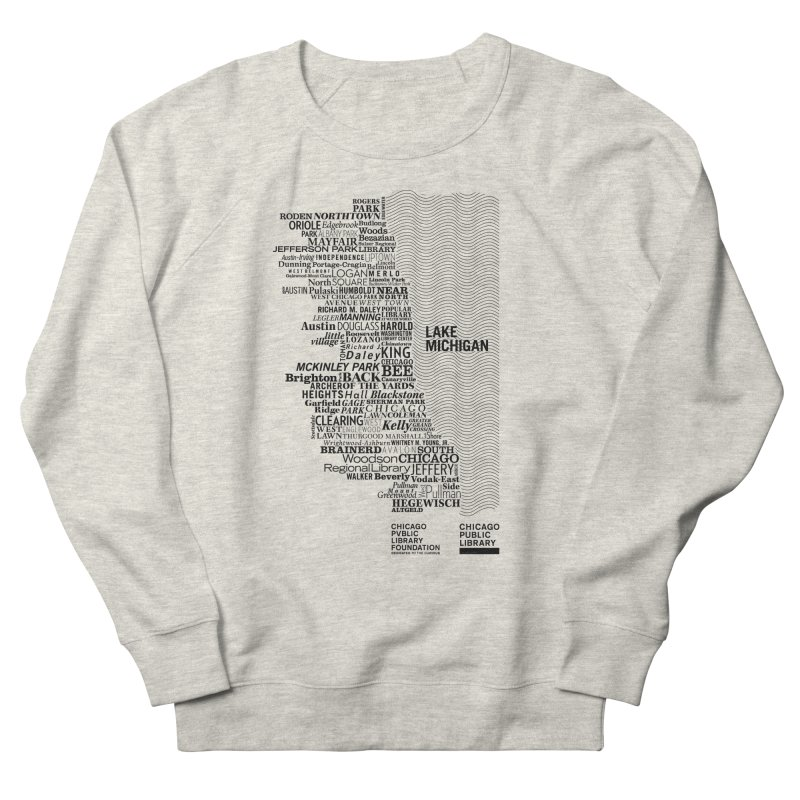 Chicago Public Library Map Black Women's Sweatshirt by cplfoundation's Artist Shop