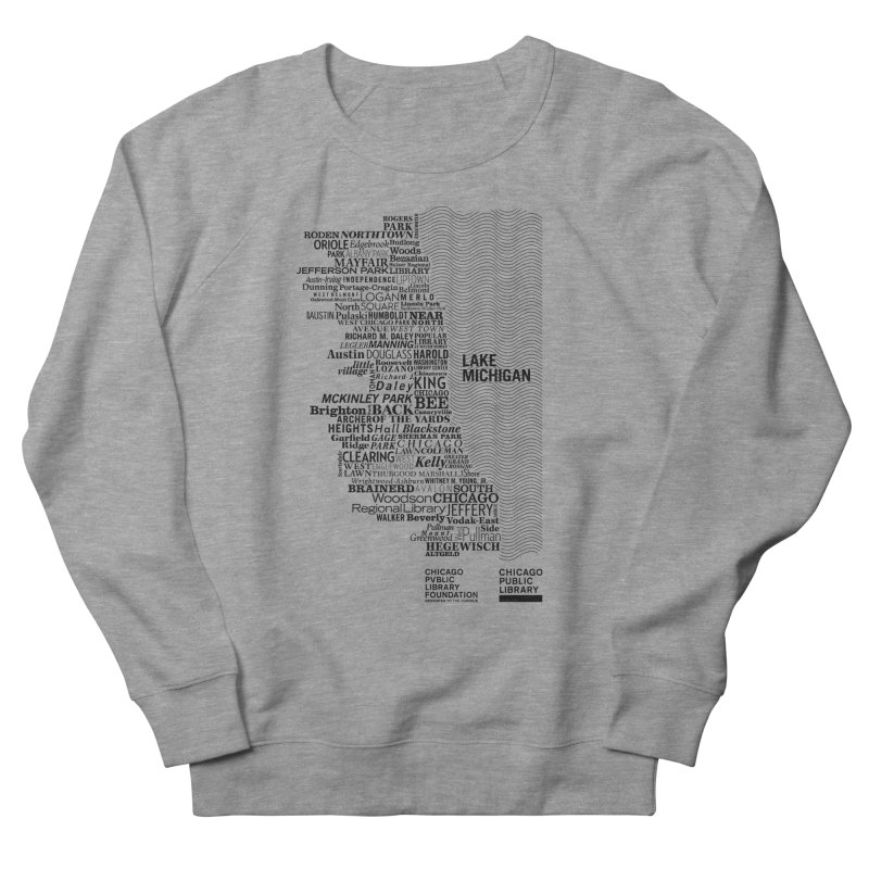 Chicago Public Library Map Black Men's Sweatshirt by cplfoundation's Artist Shop