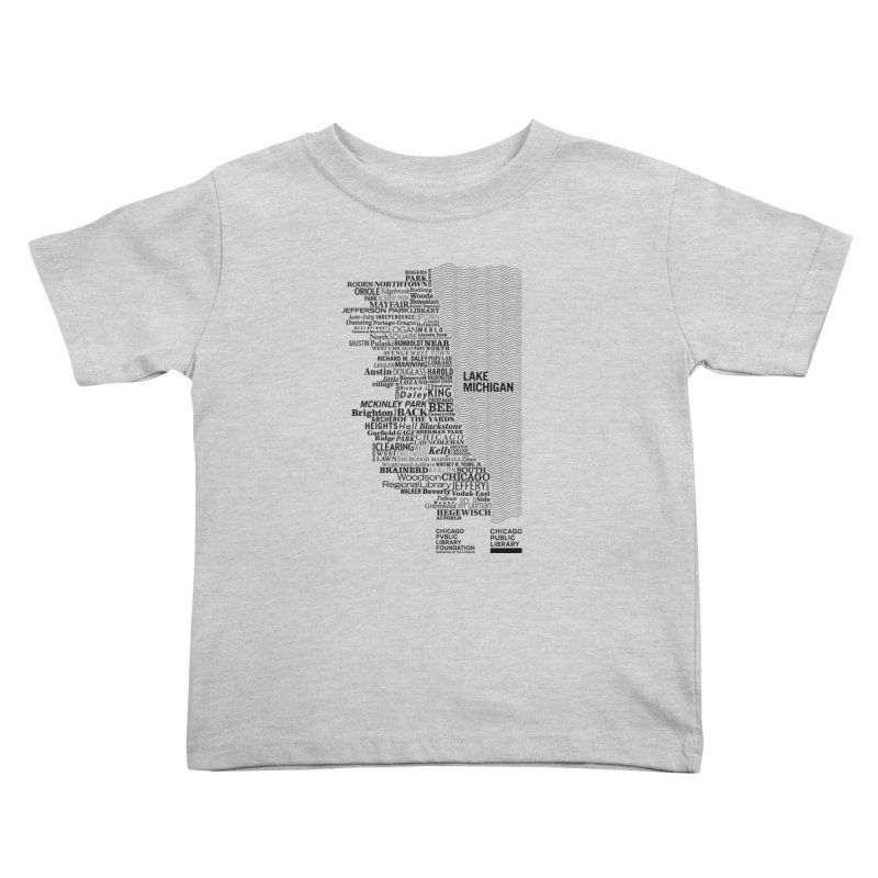 Chicago Public Library Map Black Kids Toddler T-Shirt by cplfoundation's Artist Shop