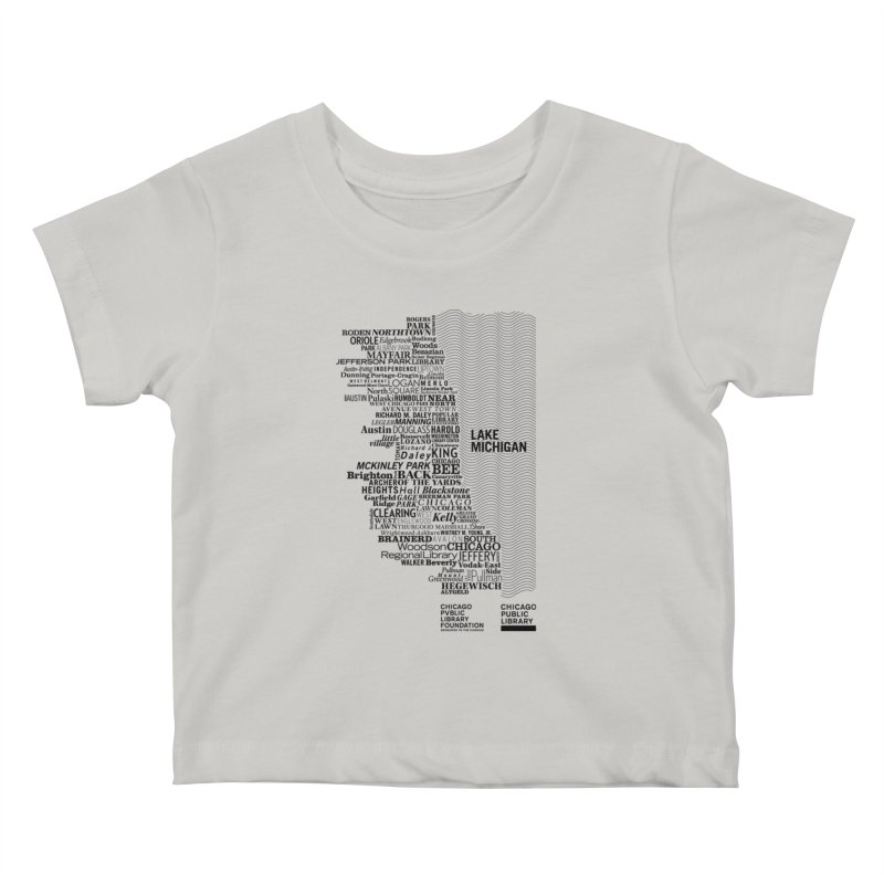 Chicago Public Library Map Black Kids Baby T-Shirt by cplfoundation's Artist Shop