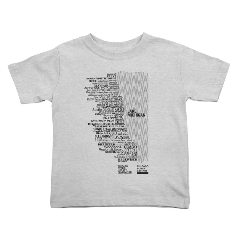 Chicago Public Library Map Black   by cplfoundation's Artist Shop