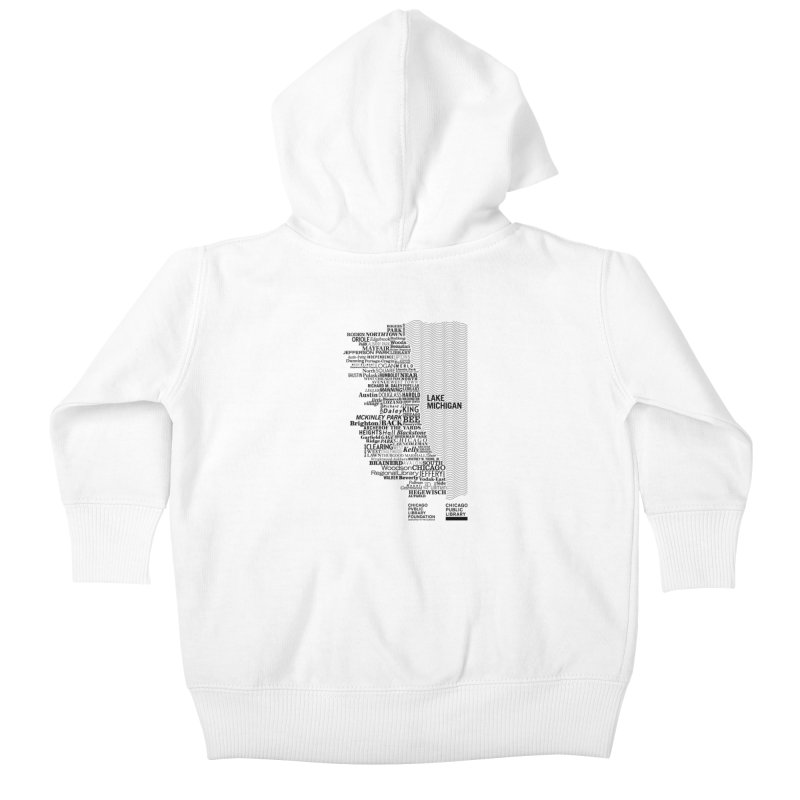 Chicago Public Library Map Black Kids Baby Zip-Up Hoody by cplfoundation's Artist Shop