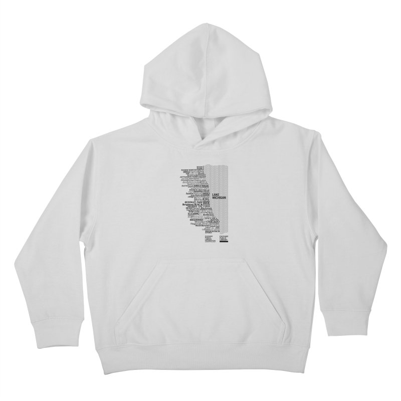 Chicago Public Library Map Black Kids Pullover Hoody by cplfoundation's Artist Shop