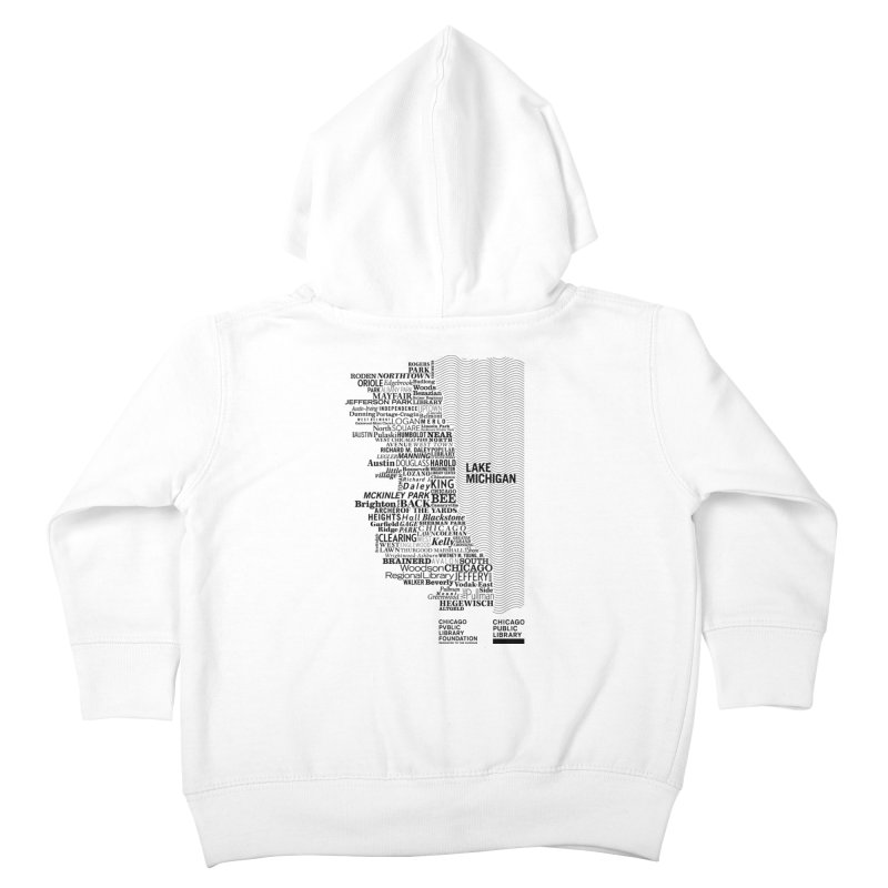 Chicago Public Library Map Black Kids Toddler Zip-Up Hoody by cplfoundation's Artist Shop