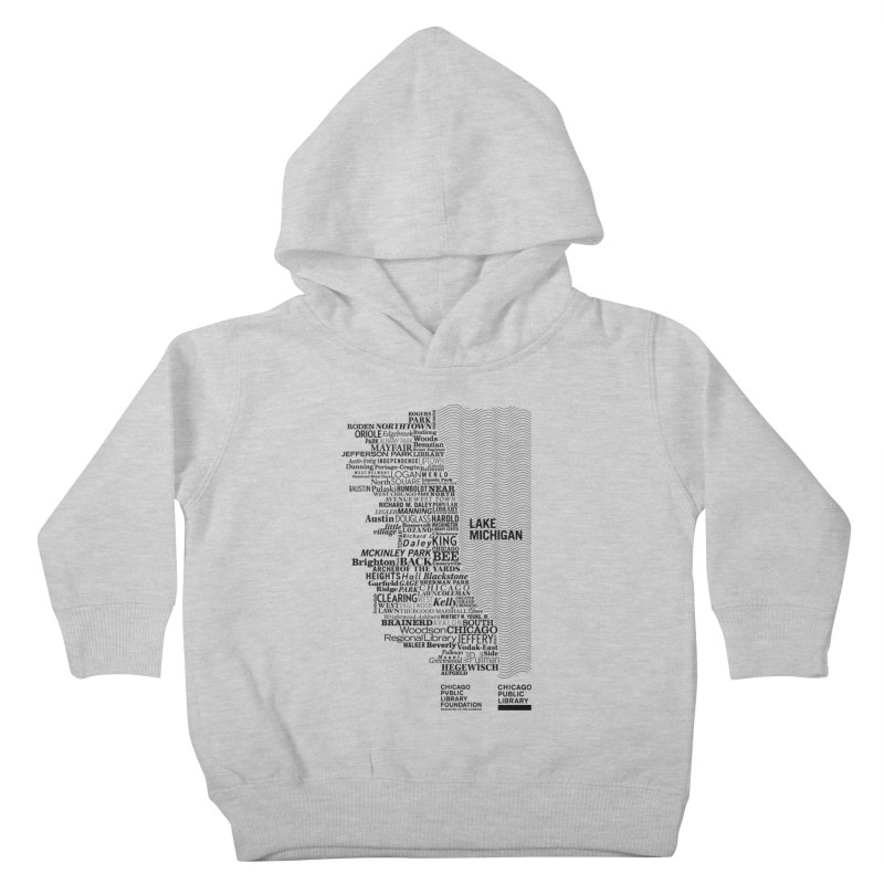 Chicago Public Library Map Black Kids Toddler Pullover Hoody by cplfoundation's Artist Shop
