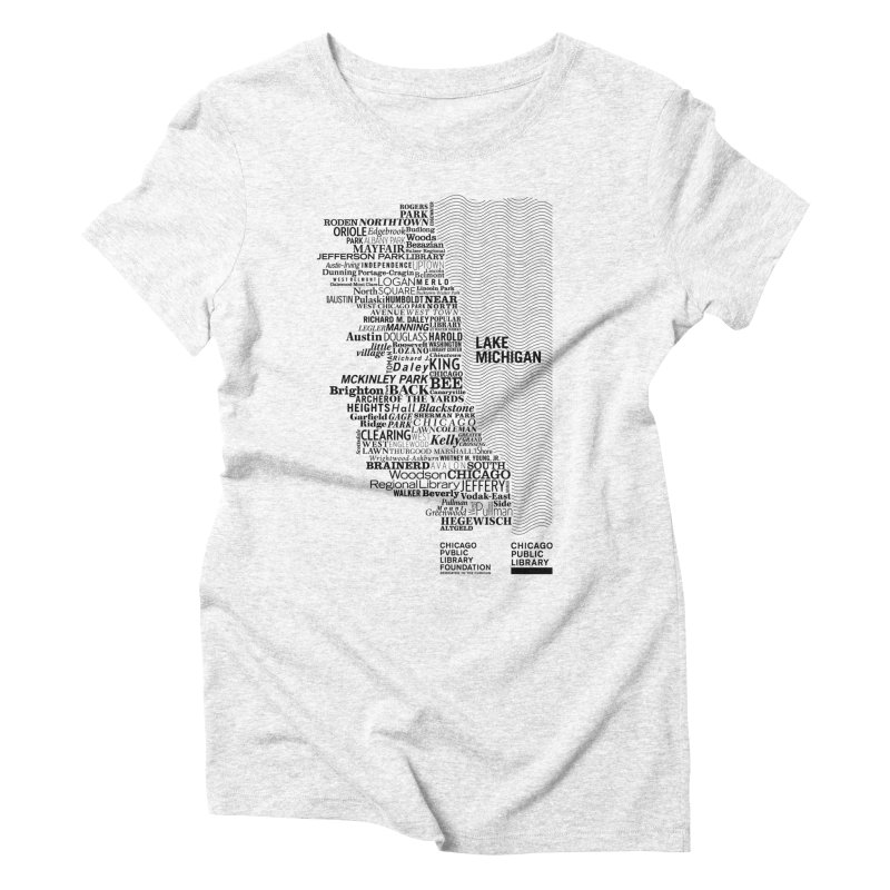 Chicago Public Library Map Black Women's Triblend T-shirt by cplfoundation's Artist Shop