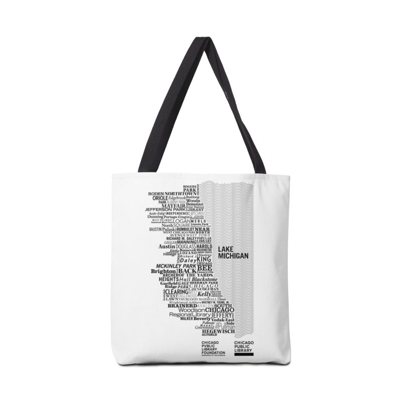 Chicago Public Library Map Black Accessories Bag by Chicago Public Library Artist Shop