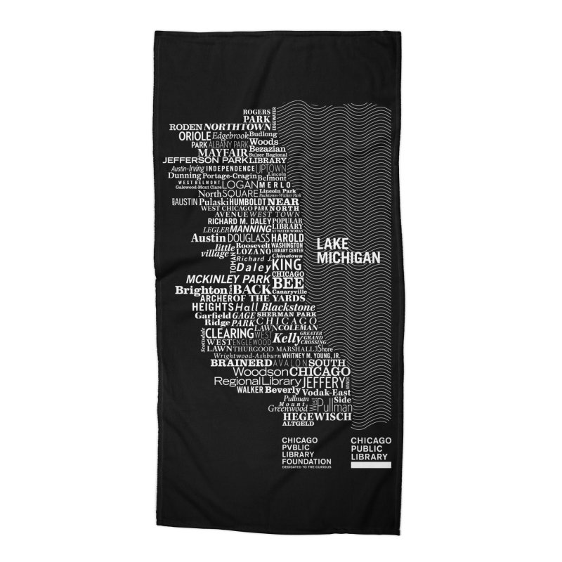 Chicago Public Library Map Accessories Beach Towel by cplfoundation's Artist Shop
