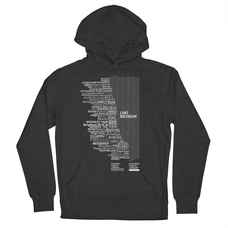 Chicago Public Library Map Women's Pullover Hoody by cplfoundation's Artist Shop