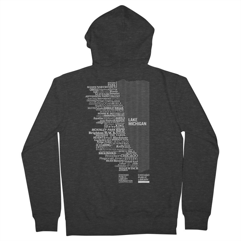 Chicago Public Library Map Women's Zip-Up Hoody by cplfoundation's Artist Shop