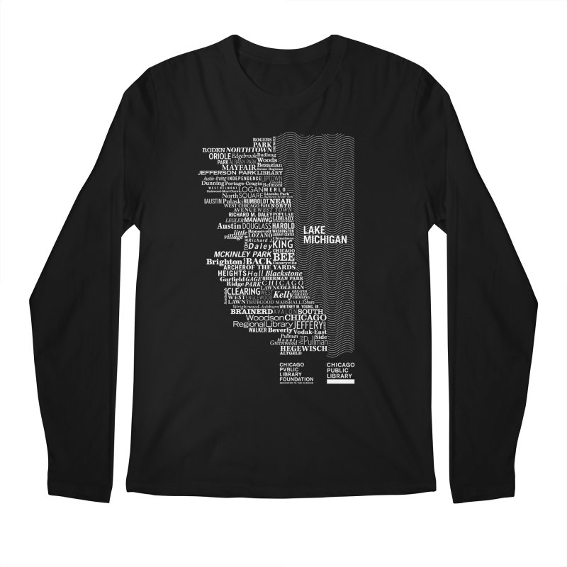 Chicago Public Library Map Men's Longsleeve T-Shirt by cplfoundation's Artist Shop