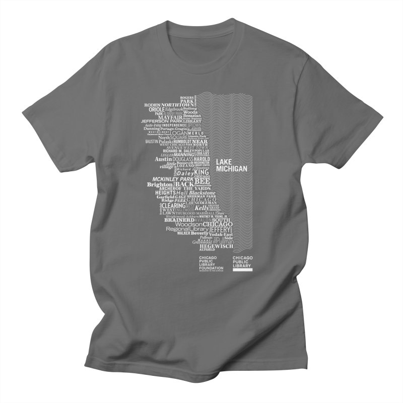 Chicago Public Library Map Men's T-shirt by cplfoundation's Artist Shop