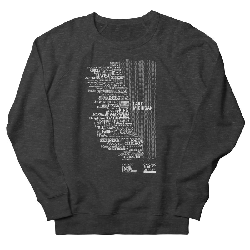 Chicago Public Library Map Men's Sweatshirt by cplfoundation's Artist Shop