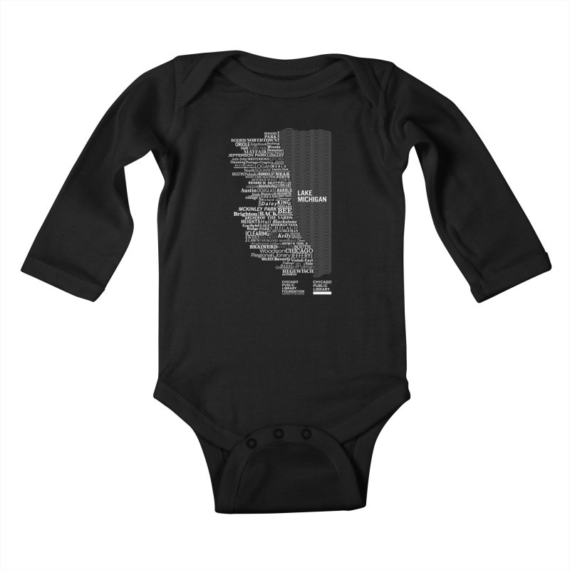 Chicago Public Library Map Kids Baby Longsleeve Bodysuit by cplfoundation's Artist Shop