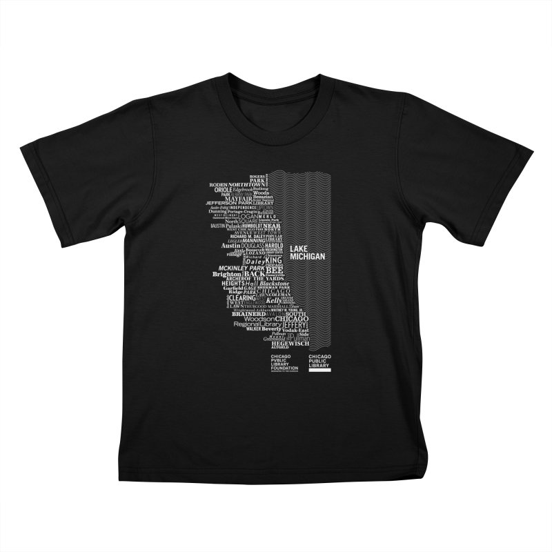 Chicago Public Library Map Kids T-shirt by cplfoundation's Artist Shop