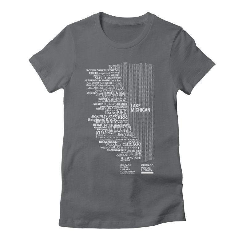 Chicago Public Library Map Women's Fitted T-Shirt by cplfoundation's Artist Shop