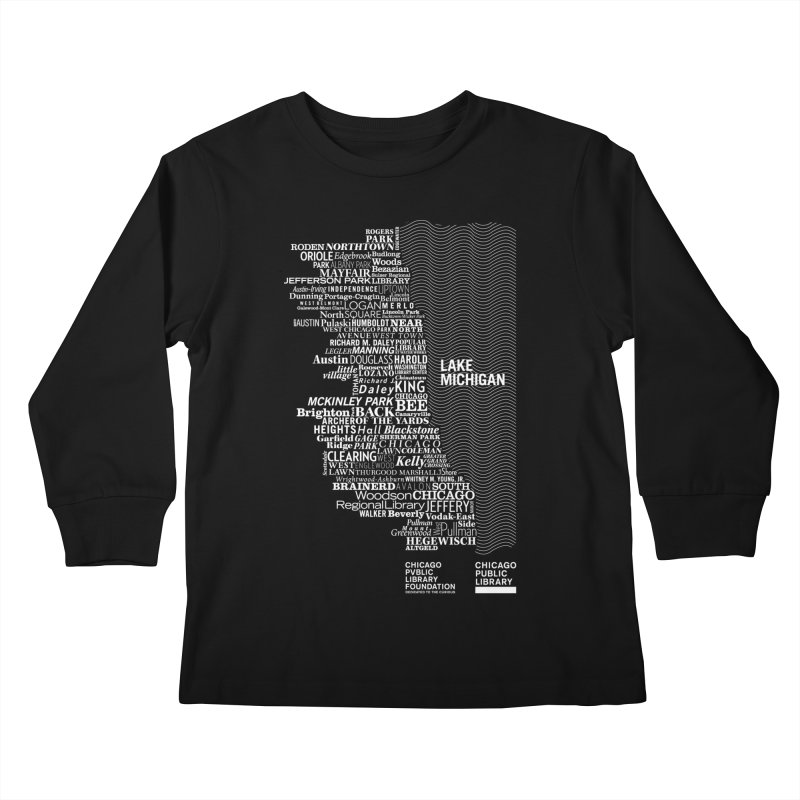 Chicago Public Library Map Kids Longsleeve T-Shirt by cplfoundation's Artist Shop