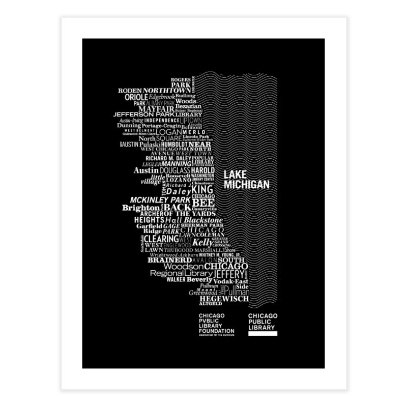 Chicago Public Library Map Home Fine Art Print by cplfoundation's Artist Shop