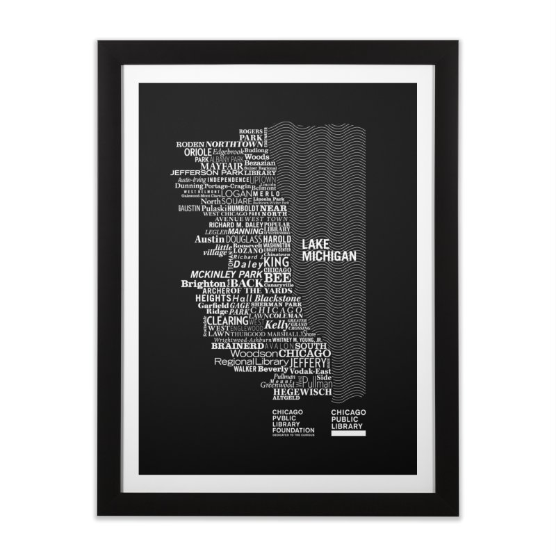 Chicago Public Library Map Home Framed Fine Art Print by cplfoundation's Artist Shop