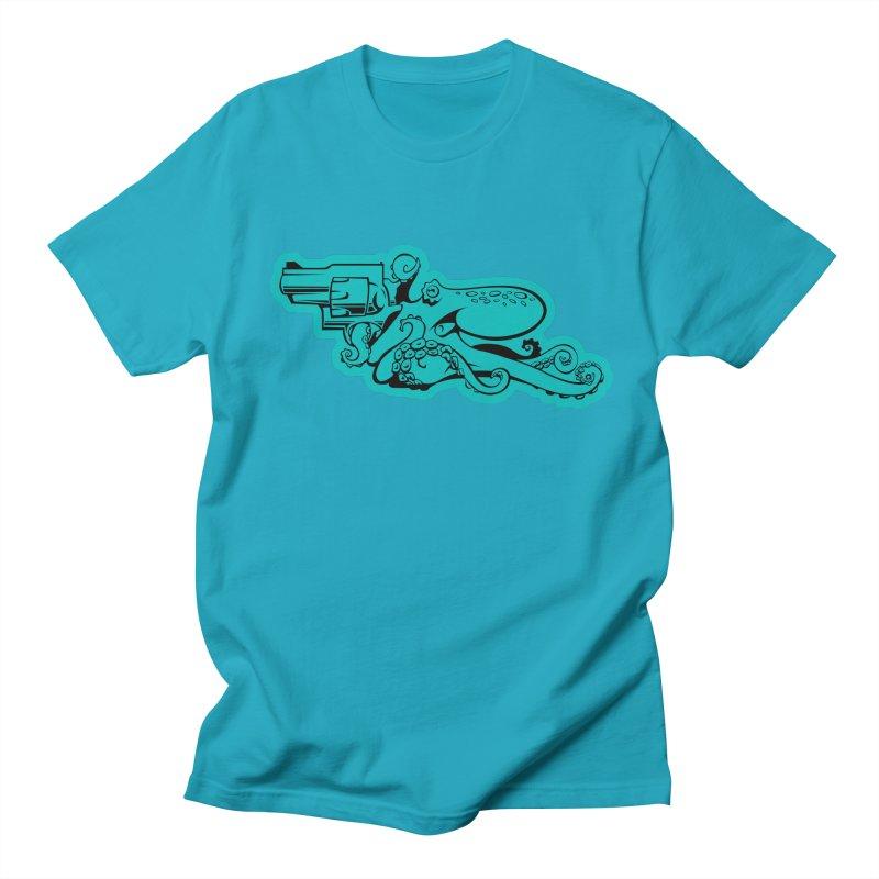 Should Eight Meet Six in Men's Regular T-Shirt Cyan by Crab Saw Apparel