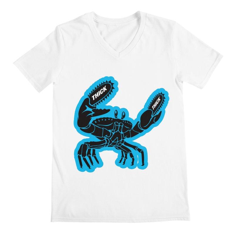 Crab On Acid Men's V-Neck by Crab Saw Apparel