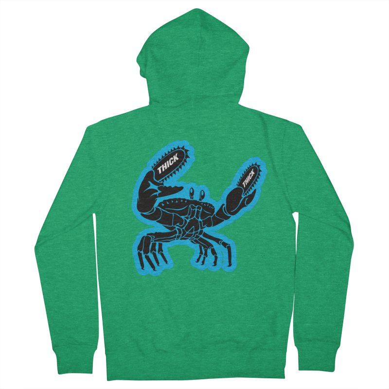 Crab On Acid Women's French Terry Zip-Up Hoody by Crab Saw Apparel