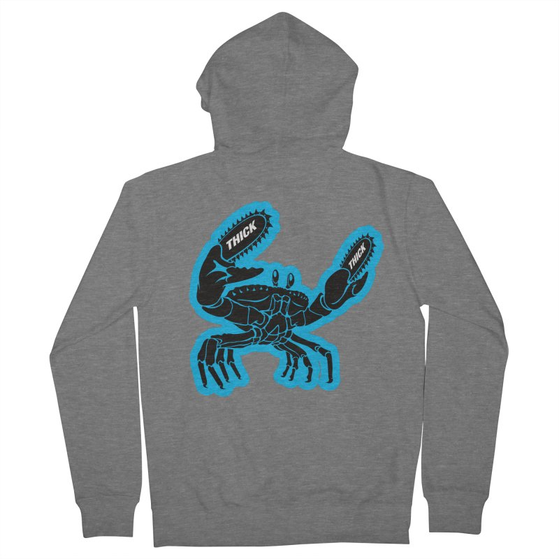 Crab On Acid Men's French Terry Zip-Up Hoody by Crab Saw Apparel