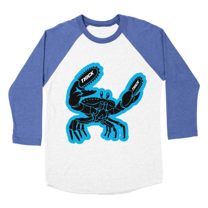 Crab On Acid Women's Baseball Triblend Longsleeve T-Shirt by Crab Saw Apparel