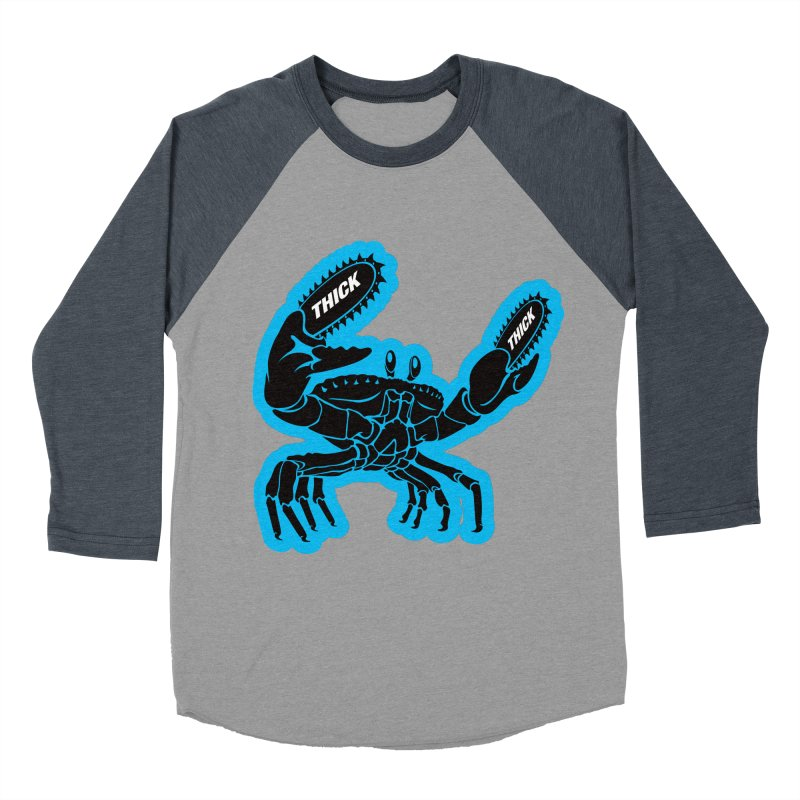 Crab On Acid Men's Baseball Triblend Longsleeve T-Shirt by Crab Saw Apparel