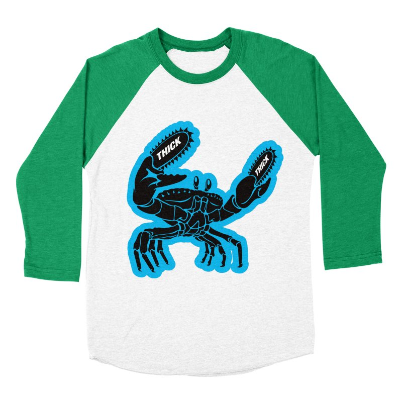 Crab On Acid Men's Baseball Triblend Longsleeve T-Shirt by Crab Saw Apparel