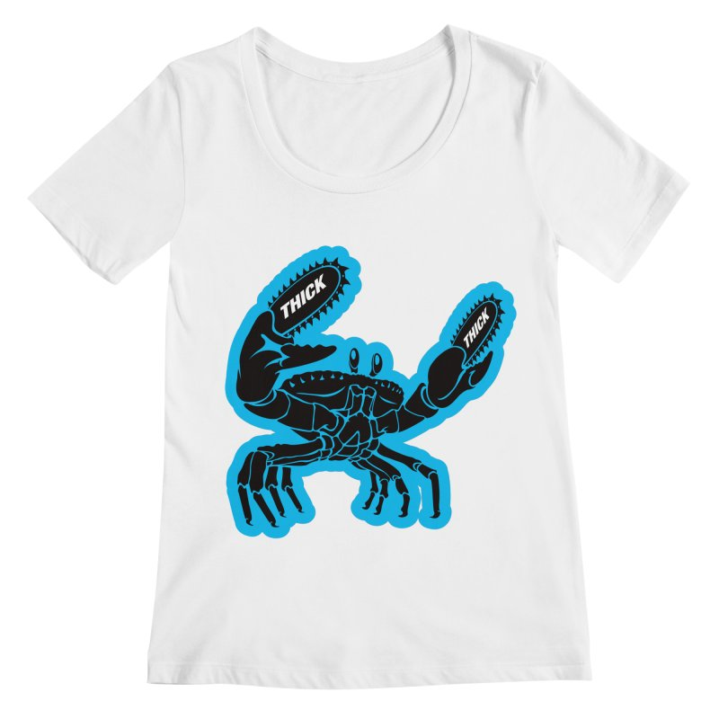 Crab On Acid Women's Regular Scoop Neck by Crab Saw Apparel