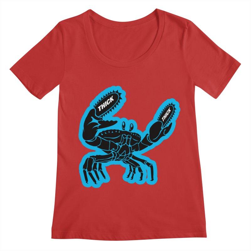 Crab On Acid Women's Regular Scoop Neck by Crab Saw Apparel